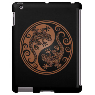 Brown y lagartos negros de Yin Yang Funda Para iPad