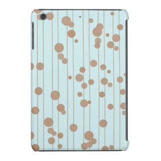 Brown y lunares al azar azules fundas de iPad mini