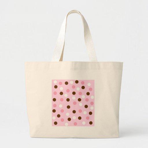 Brown y lunares rosados bolsas
