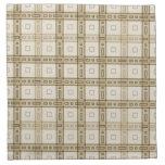 Brown y modelo beige del control servilletas imprimidas