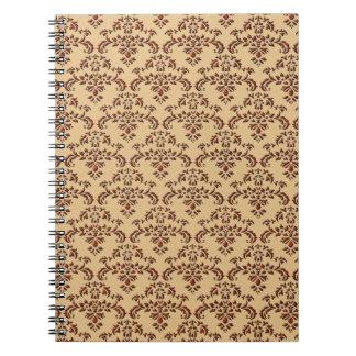 Brown y modelo beige del damasco libreta