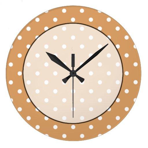 Brown y modelo de lunares blanco relojes