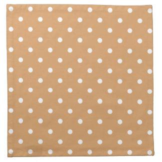 Brown y modelo de lunares blanco servilletas de papel
