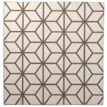 Brown y modelo geométrico beige del art déco servilleta de papel