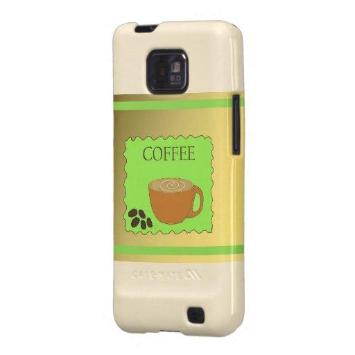Brown y muestra verde del café samsung galaxy s2 carcasa