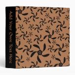 Brown y negro, diseño de la flor de la torsión del