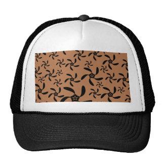 Brown y negro, diseño de la flor de la torsión del gorro de camionero