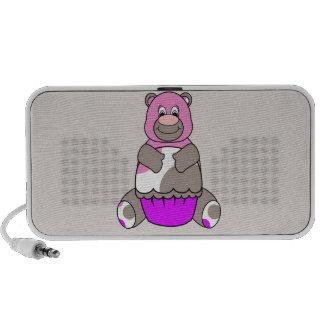 Brown y oso rosado de Polkadot iPod Altavoz