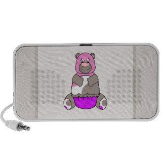 Brown y oso rosado de Polkadot Mp3 Altavoz
