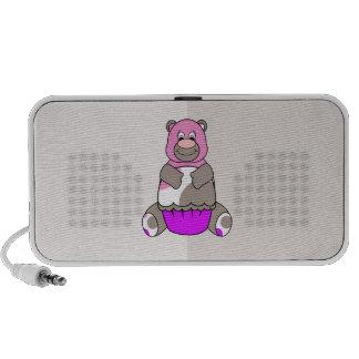 Brown y oso rosado de Polkadot Altavoces De Viaje