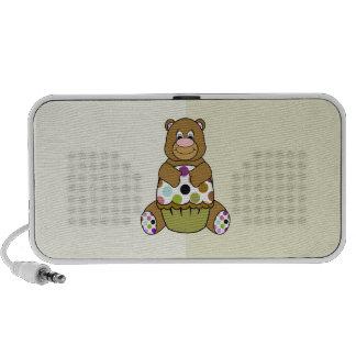 Brown y oso verde de Polkadot Notebook Altavoz