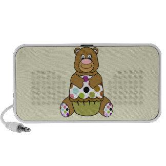 Brown y oso verde de Polkadot Notebook Altavoces