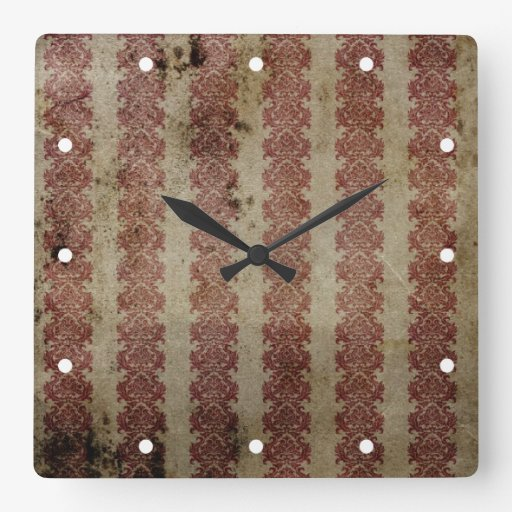 Brown y papel pintado marrón del damasco del grung relojes de pared