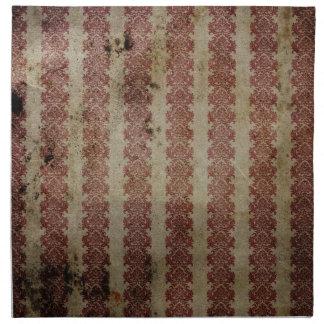 Brown y papel pintado marrón del damasco del grung servilletas de papel
