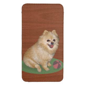Brown y perro blanco de Pomeranian Bolsillo Para Galaxy S4