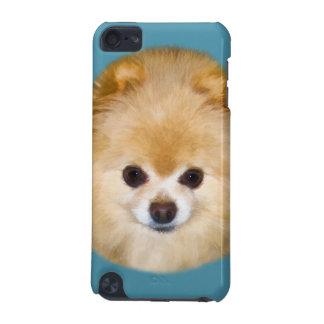 Brown y perro blanco de Pomeranian Funda Para iPod Touch 5