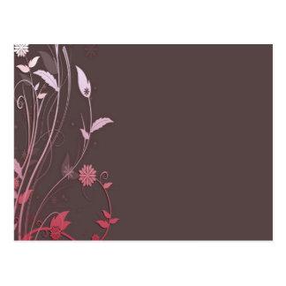 Brown y plantilla customizeable del rosa postal