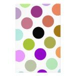 Brown y puntos coloridos del verde papeleria de diseño