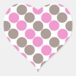 Brown y puntos rosados colcomanias corazon