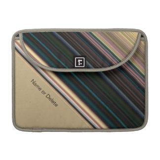 Brown y raya verde fundas macbook pro