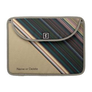 Brown y raya verde fundas para macbook pro
