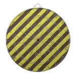 Brown y rayas de color verde amarillo tablero dardos