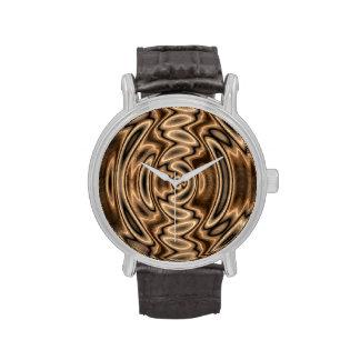 Brown y reloj de los remolinos del extracto del