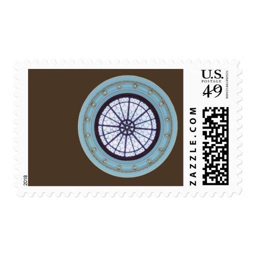 Brown y sello moderno azul del boda