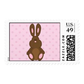 Brown y sellos rosados de los lunares del conejito