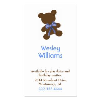 Brown y tarjeta de fecha de encargo azul del juego tarjetas de negocios