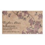 Brown y tarjeta de visita púrpura de la flor