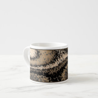 Brown y taza abstracta de color topo del café expr taza espresso