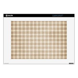 Brown y tela escocesa beige calcomanía para 38,1cm portátil