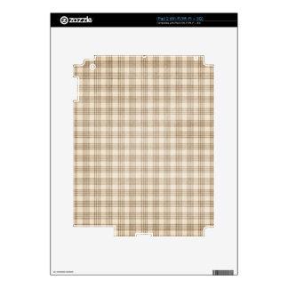 Brown y tela escocesa beige iPad 2 calcomanías