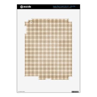 Brown y tela escocesa beige iPad 3 skin