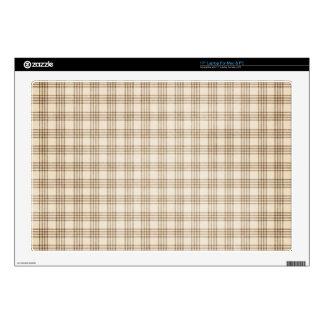 Brown y tela escocesa beige skins para 43,2cm portátil