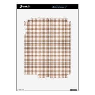 Brown y tela escocesa blanca iPad 2 calcomanías