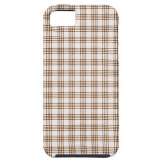 Brown y tela escocesa blanca iPhone 5 funda