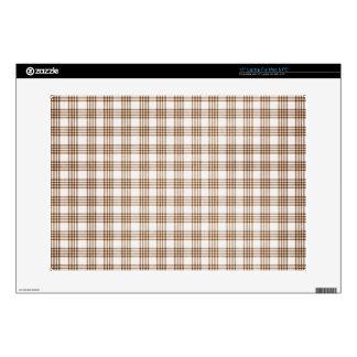Brown y tela escocesa blanca portátil 38,1cm skin