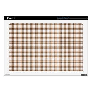 Brown y tela escocesa blanca skins para 43,2cm portátiles