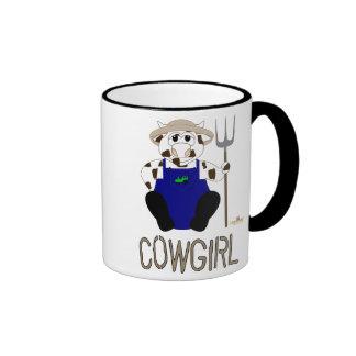 Brown y vaquera blanca de Brown de la vaca del Taza De Dos Colores