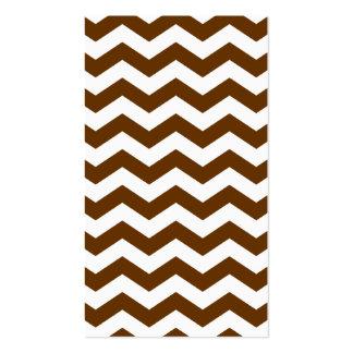 Brown y zigzag blanco tarjeta de visita