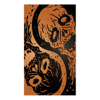 Brown y zombis negros de Yin Yang Tarjetas De Visita