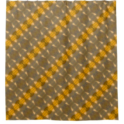 Brown Yellow Abstract Shapes Pattern Shower Curtain Zazzle