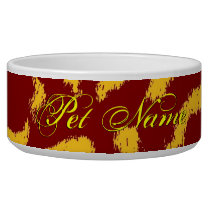 Brown yellow animal skin texture of leopard bowl