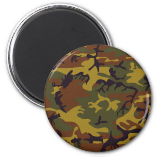 Brown yellow green camouflage design magnet