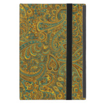 Brown & Yellow Rustic Vintage Paisley Pattern Cover For iPad Mini