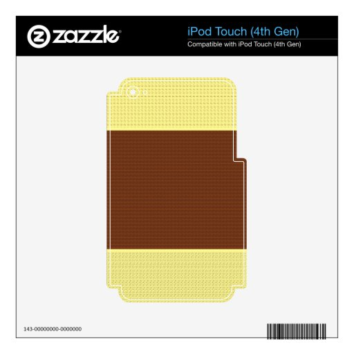 Brown & Yellow: Two- Toned iPod Touch 4G Decal