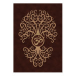 Brown Yoga Om Tree Business Card Templates