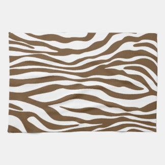 Brown Zebra Animal Print Kitchen Towel